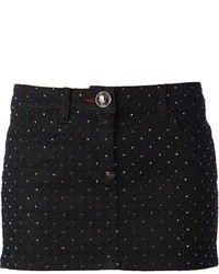 Minifalda acolchada negra de Philipp Plein