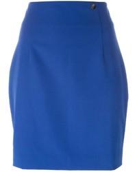 Minifalda azul de Versace