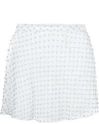 Minifalda con adornos blanca de MICHAEL Michael Kors