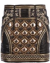 Minifalda con Adornos Negra de Balmain