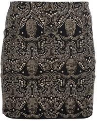 Minifalda con Adornos Negra de Philipp Plein