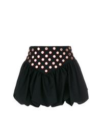 Minifalda con Adornos Negra de Saint Laurent