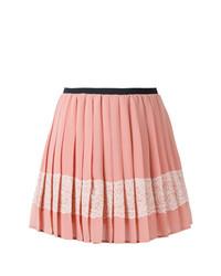 Minifalda con Adornos Rosada de RED Valentino