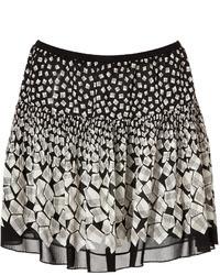 Minifalda con estampado geométrico en blanco y negro