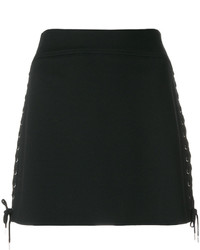 Minifalda Con Ojete Negra de MCQ
