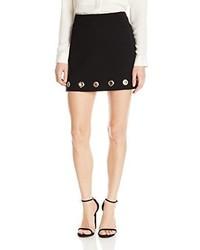 Minifalda con ojete negra de Rebecca Minkoff