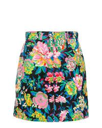 Minifalda con print de flores en multicolor de MSGM