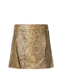 Minifalda con print de serpiente Marrón Claro de Chloé