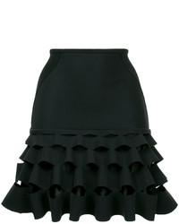 Minifalda con volante negra de Dion Lee