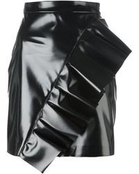 Minifalda Con Volante Negra de MSGM