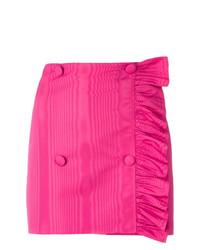 Minifalda con volante rosa de MSGM