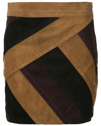 Minifalda de ante marrón de Derek Lam 10 Crosby