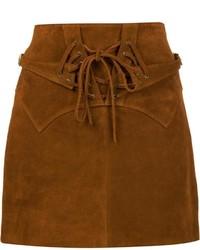 Minifalda de ante marrón de Faith Connexion