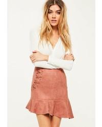 Minifalda de ante rosada