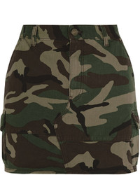 Minifalda de camuflaje verde oliva