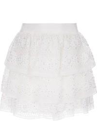 Minifalda de Crochet Blanca de Alice + Olivia