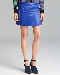 Minifalda de cuero azul