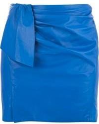 Minifalda de Cuero Azul de Isabel Marant