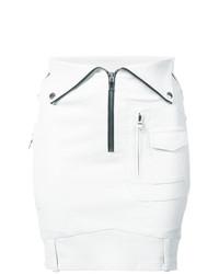 Minifalda de cuero blanca de RtA