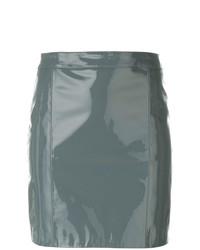 Minifalda de Cuero Gris de Manokhi