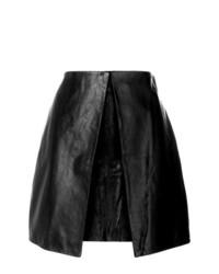 Minifalda de cuero negra de Aalto