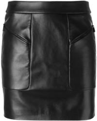 Minifalda de cuero negra de Barbara Bui