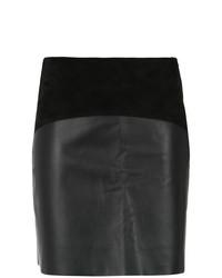 Minifalda de cuero negra de Egrey