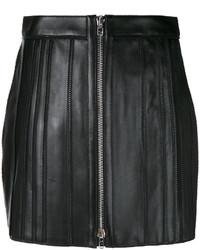 Minifalda de cuero negra de Givenchy