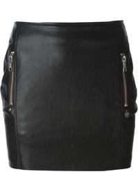 Minifalda de cuero negra de Urban Code