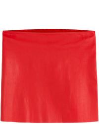 Minifalda de cuero roja