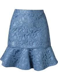 Minifalda de encaje celeste