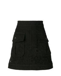 Minifalda de Flores Negra de Chloé