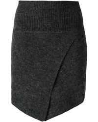 Minifalda de lana en gris oscuro de Etoile Isabel Marant
