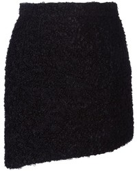 Minifalda de Lana Negra de Dolce & Gabbana