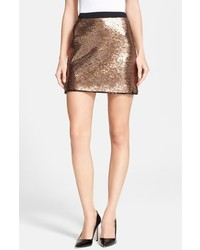 Minifalda de lentejuelas dorada