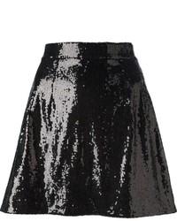 Minifalda de Lentejuelas Negra de Dolce & Gabbana