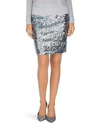 Minifalda de lentejuelas plateada