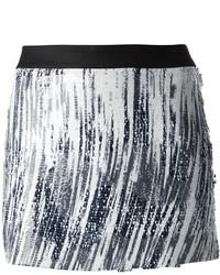 Minifalda de Lentejuelas Plateada de Kenzo