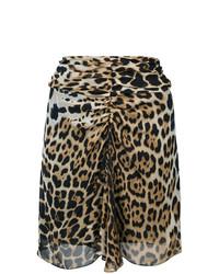Minifalda de Leopardo Marrón Claro de Saint Laurent