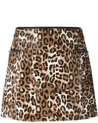 Minifalda de leopardo marrón de Joseph