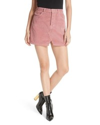 Minifalda de pana rosada