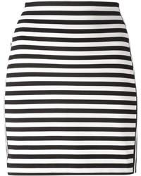Minifalda de rayas horizontales en blanco y negro de MICHAEL Michael Kors