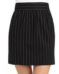 Minifalda de rayas verticales negra