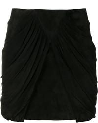 Minifalda de Seda Negra de Saint Laurent