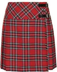 Minifalda de tartán roja