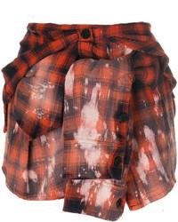 Minifalda de tartán roja de Faith Connexion