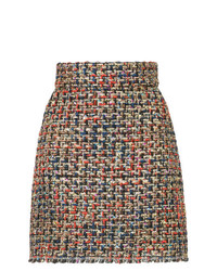 Minifalda de tweed en multicolor de Bambah