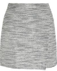 Minifalda de tweed gris