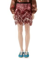 Minifalda de tweed rosada