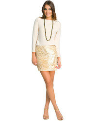 Minifalda dorada